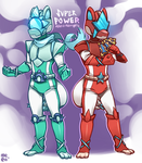 Super POWER Astro Rangers -- commission by MeensArts
