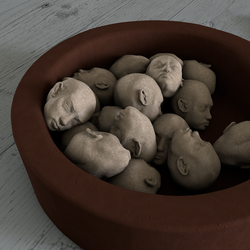 Bowl Of Heads by artisemia