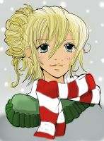 Girl In Scarf by Naomi-Chwan