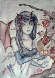 succubus by shadowpaintedwhite