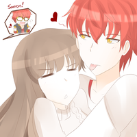Teasing Saeyoung ~ by TrainerAshandRed35