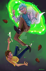 Rick and Morty - Portal Jump by pk4n
