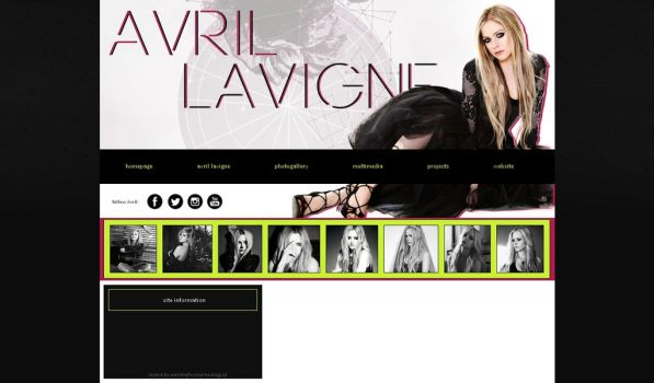 free layout #14 ft. Avril Lavigne by JulieKrocova