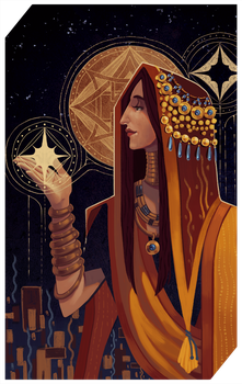 Commission: Miss Balzar tarot by RedlyJester