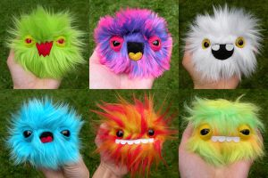 Litter o 6 Newborn Monsters by loveandasandwich