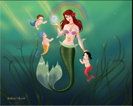 Ariel family by lunatwo