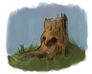 Wood stump owl by andtheSixtyfirst