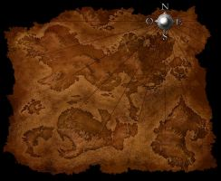 old map - creatures of legend by kesha67