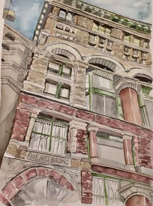 Chicago Fine Arts Building  by mybuttercupart