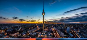 Berliner Fernsehturm at sunset by roman-gp