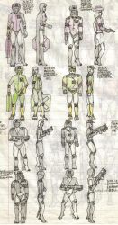 Noeir Lunivian Infantry Uniforms Reference 2 by AzabacheSilver