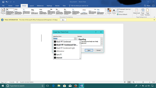 New Font on Microsoft Office 2016 by FlamePrincess3535