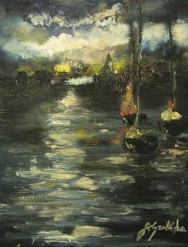 Ships. Oil painting. by NicotineL
