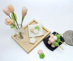 Wagashi and Tulips by Snowfern