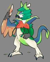 Decidueye tf by DinoDoggo