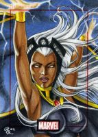 Storm, Marvel 70th sketch card by Dangerous-Beauty778