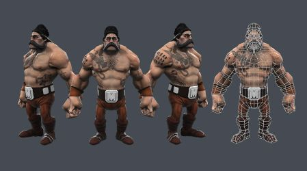 King Marco low poly character by Kriegerman