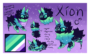[ JolleRaptor Ref Sheet | Xion | DON'T OWN!!! ] by Marblesona