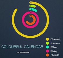 COLORFUL CALENDAR by minamike2007
