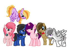 OC Mane 6 by MadWhovianWithABox