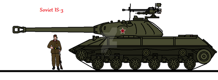 Soviet IS-3 (Updated Illustration) by thesketchydude13