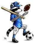 Raccoon Play Ball Color by jeh-artist