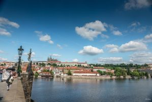 Czech paradise - vltava from the Charles bridge by Rikitza