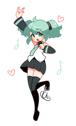 Twin-Poms Miku by yuki-oto