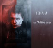 Pure (PSD WATTPAD COVER) by lous-art