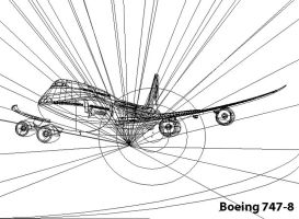 Vector Boeing 747-8 Outline by LuigiLA