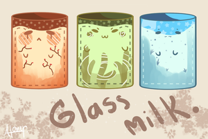 Glass milk by Usagiwasan