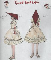 pyramid head lolita by TheSilverKiss