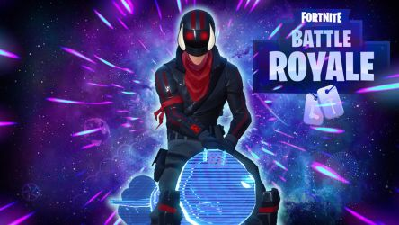 Fortnite BR Biker in Space by LordMaru4U