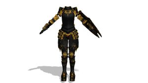 MMD Dark Armor Download by 9844