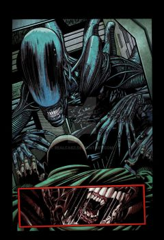 Aliens: Isolation # 1 page 04 color by realcabz