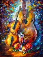 Guitar And Violin by Leonid Afremov by Leonidafremov