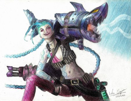 Jinx, the Loose Cannon,  from LOL by LeticiaSiqueira
