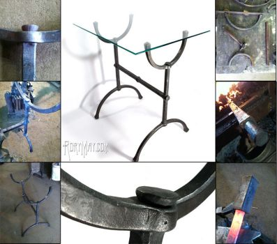 Forged Arch - Arts and Crafts style end table by isolatedreality