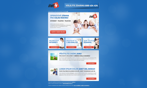 Newsletter design inet4 by lys036
