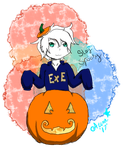 Ghosty Pumpkin by AuraLeighDragon