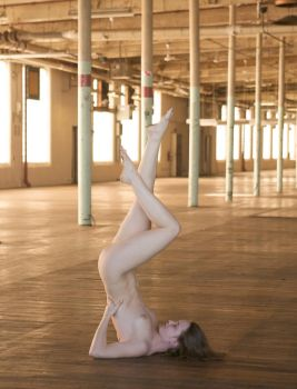 nude with legs up by milenamay