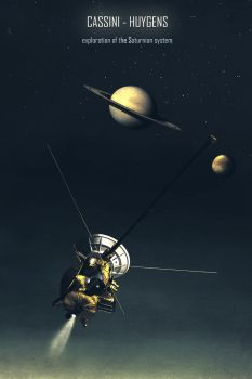 Cassini Huygens Vintage Style by Aste17