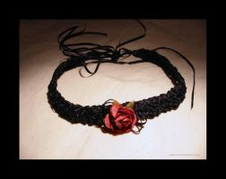 ribbon choker by Aerusss