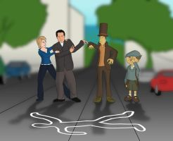 Professor Layton and Mr. Monk by Videoboysayscube
