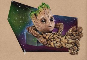 I  AM  GROOT by ARTIEFISHEL79
