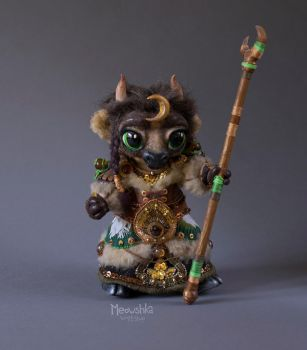 Tauren Druid Tier 8 Handmade Plushie - WoW by miaushka-workshop