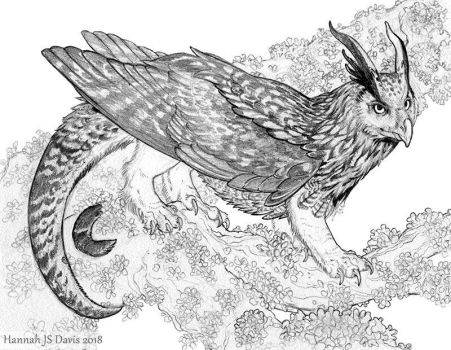 Little Book of Dragons: Eagle-Owl Drake by Ahkahna