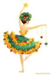 Christmas Tree Ballerina by Ermy