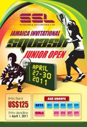 Youth squash tournament poster by owdesigns