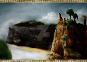 Ruins of Cair Paravel by snakeartworx